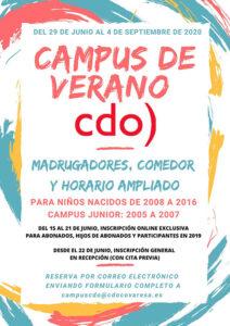 campus de verano 2020 cdo Covaresa